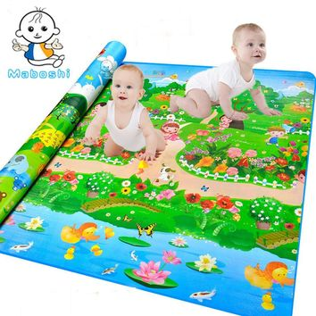 Authorized Authentic Maboshi Quality Baby Play Mat Botanical Garden+Forest Park Kids Play Carpet Baby Crawling Mat
