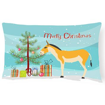 Turkmenian Kulan Donkey Christmas Canvas Fabric Decorative Pillow BB9221PW1216
