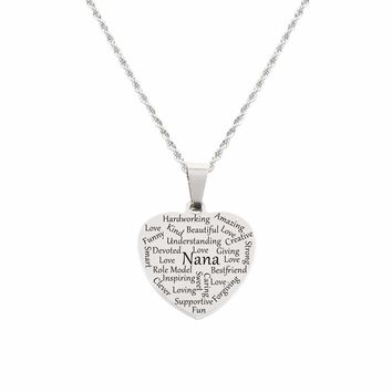 Heart Tag Necklace - Nana