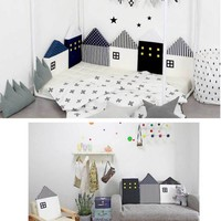 4Pcs Baby Infant Bedding Bumper Collision Creeping Guardrail Bed Baby Crib Bumpers Safety Rail Protect the Baby Room Decoration