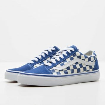 Primary Check Old Skool Sneaker - True Blue + White