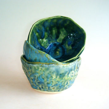 Small bowls whiskey cups by Clayshapes on Etsy