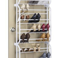 Whitmor 6780-4679-WHT Resin 36-Pair Over The Door Shoe Rack