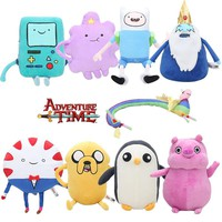 24cm - 67cm Adventure time Toy Jake Finn Beemo BMO Penguin Gunter Lumpy Space Princess Peppermint butler Stuffed Toy Plush Doll