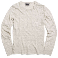 Lightweight Linen Sweater in Light Grey
