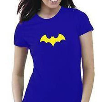 DC BATGIRL III Symbol - WOMEN'S PURPLE T-Shirt - Small & Medium