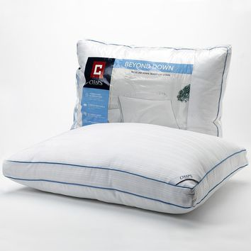 Chaps Home 300-Thread Count Firm Beyond-Down Pillow (White)