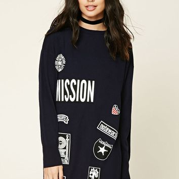 Mission Patched Sweater Dress