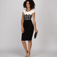 Promo-timeless Color Block Midi