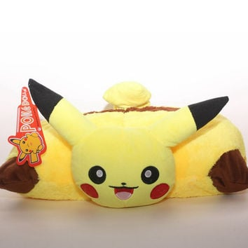 1pcs Anime Cartoon Pokemon Pikachu pillow Pokemon Folded Cushion 40*30cm Free shipping