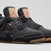 Levi's X Air Jordan 4 Black Denim (Levi's Tag)