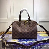 LV Louis Vuitton MONOGRAM LEATHER SPEEDY 30 HANDBAG SHOULDER BAG