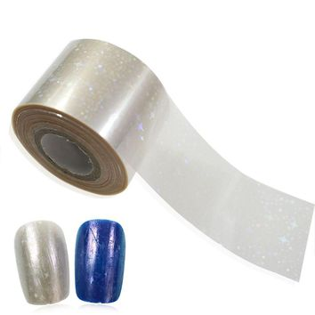 100x4cm 1packs Blind-Blind Glitter Full Cover Adhesive Patch Nail Art Foils Fashion Summer Designs Nail Sticker TW01