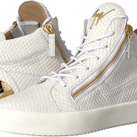 Giuseppe Zanotti Mens May London Heel Plate Mid Top Sneaker