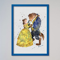 Beauty and the Beast Poster Belle Disney Poster
