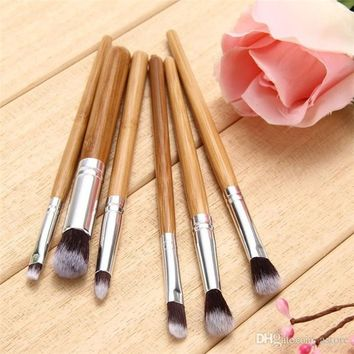 Blending Powder Blush Eye Shadow Concealer Makeup Foundation Brushes Bamboo Handle