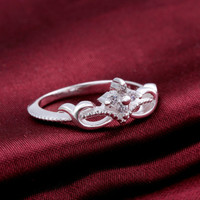 925 Sterling Silver Princess Crown Ring