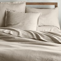 Lino II Flax Linen Full/Queen Duvet Cover
