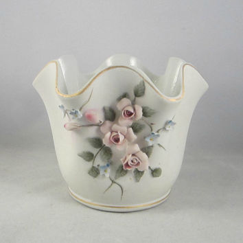 Vintage Lefton China Vase Handpainted and Numbered