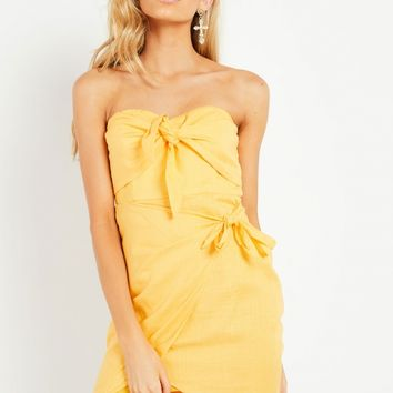 Halo Dress - Yellow
