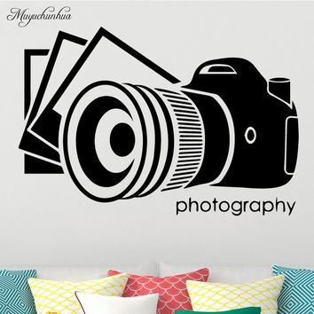 Old Camera Wall Art Decal Wall Stickers DIY Home Decalation Accessories Vinyl Waterproof Wall Sticker for Living Room Wall Decal