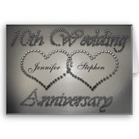 Punched Tin 10th Wedding Anniversary Card from Zazzle.com