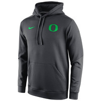 Oregon Ducks Nike 2014 Sideline KO Chain Fleece Therma-FIT Hoodie – Anthracite