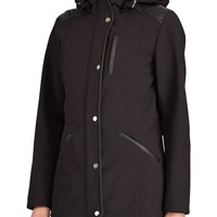 Brands | Parkas & Winter Jackets | Faux Leather Trim Hooded Coat | Hudson's Bay