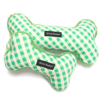 Gingham Bone Canvas Toy | Green
