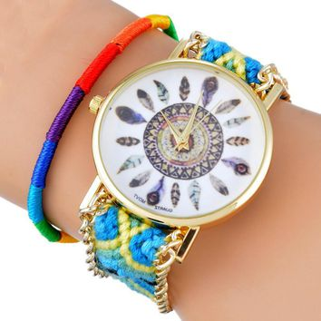 BRAIDED FRIENDSHIP DREAMCATCHER WATCH