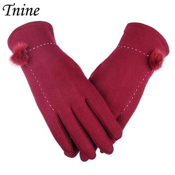 Tnine Womens Ball Gloves Touch Screen Gloves Winter Thick Warm Thick Warm Lined Smart Texting Mittens Fashion Gloves for Women