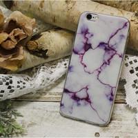Marble iPhone 6, 6S stone design phone case, cell phone cover, purple  | CP2