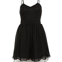 Black Strappy Layered Prom Dress
