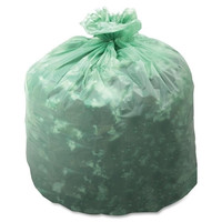 """stout compostable trash bags,13 gallon,.85mil,24""""x30"""",45/bx,green Case of 2"""