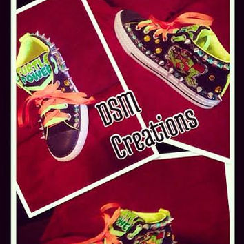 Custom TMNT Converse Shoes for the ninja turtle fan in your life!