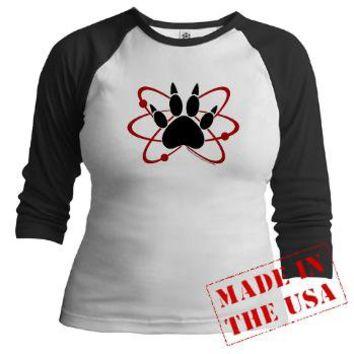 Walking Dead Carl Atomic Paw Jr. Raglan> Walking Dead Carl Atomic Paw> The Walking Dead T-Shirts from Gold Label