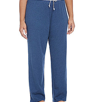 Jasmine & Ginger Plus Jersey Knit Pajamas Pants - Turquoise Heather