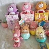 Care Bears Lot of 15 Small Bears! Easter Egg and Valentines Care Bears!