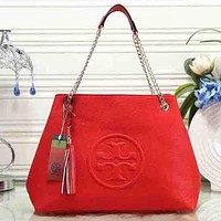 Perfect Tory Burch Women Fashion Leather Satchel Shoulder Bag Handbag