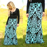 Untoile Forever Maxi Skirt in Blue