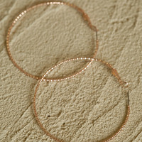 Altar'd State Diamond Cut Hoop Earrings in Rose Gold