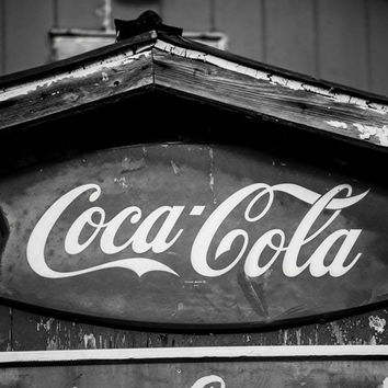 Vintage Coca Cola Sign in a Small Town (A0011512)
