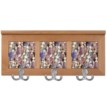 Fall Indian Corn Pattern Coat Racks