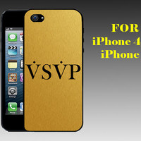 VSVP Asap Rocky Golden - Print on Hard Cover iPhone 5 Black Case - iPhone 4/4s Case - Please Leave a Note For the Type Case and Color Case