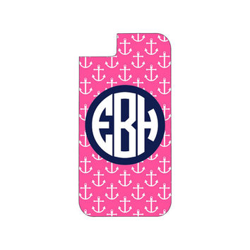 Monogrammed Anchor Phone Case, Monogram Phone Case, Iphone case, Monogram iphone case,monogrammed iphone case, monogram galaxy case
