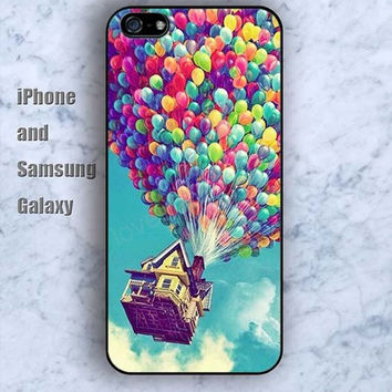 up hot air balloon colors iPhone 5/5S ipod touch silicone rubber case phone cover