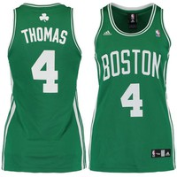 Women's Boston Celtics Isaiah Thomas adidas Kelly Green/White Road Replica Jersey