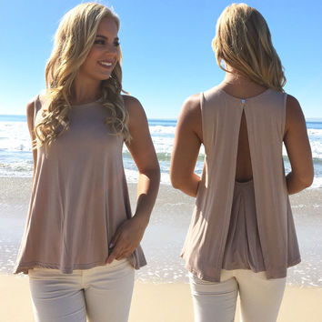 Lolita Drape Jersey Top In Mocha