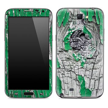 Green & White Bark Skin for the Samsung Galaxy Note 1 or 2