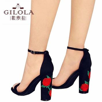 Fashion High Heels Hollow Open Toe Women Pumps Cut Outs Shoes Spring Summer Stiletto Flowers Shoes